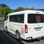 The minibus, aquired through funds donated by the National lottery