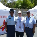 The SA Police came and supported us  Colonel June Cilliers and Constable Solomons