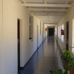 6 classrooms lead off from the long corridor