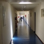 The corridor from the far end