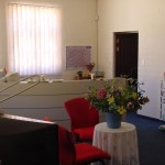 The new reception area