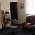 A view of the Principal's new office