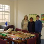 Jenny Williams and Andrea Knott of RMB with the Principal, Eleanor Lawrence