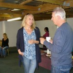 "Dave barnes (WUCT) talking to Pippa Shaper from ""Home from Home"""