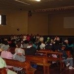 A view of the PTA meeting held in the Community Hall