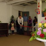 Frank Cadiz cutting the ribbon of the new staff room