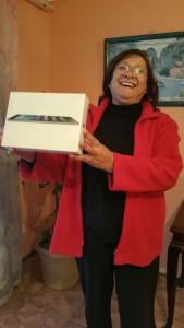 Suzette Keswardt, Winner of the first iPad
