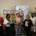 Some of the teaching staff who received tablet computers today